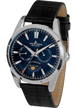 Jacques Lemans Часы Jacques Lemans 1-1901B. Коллекция Moonphase jacques lemans liverpool moonphase 1 1901a