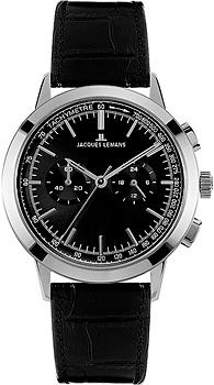 цена  Jacques Lemans Часы Jacques Lemans N-204A. Коллекция Classic  онлайн в 2017 году