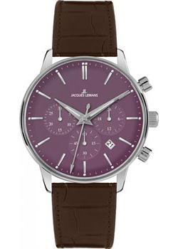 цена  Jacques Lemans Часы Jacques Lemans N-209E. Коллекция Classic  онлайн в 2017 году