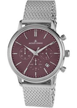 цена  Jacques Lemans Часы Jacques Lemans N-209O. Коллекция Classic  онлайн в 2017 году