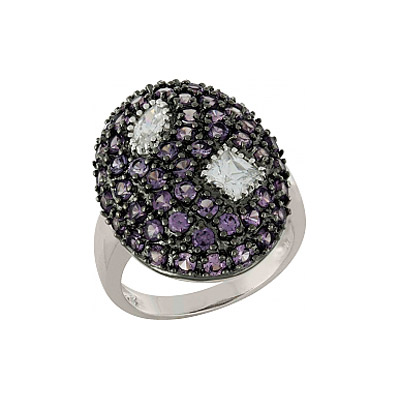 Серебряное кольцо Ювелирное изделие 100867 магия золота серебряный кулон с имитац корунда куб циркониями и эмалью mg99891z en