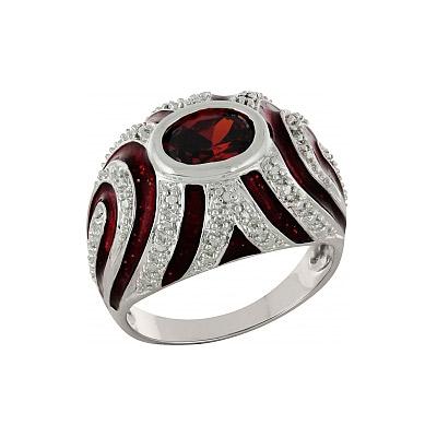 Серебряное кольцо Ювелирное изделие 100888 позолоченное серебряное кольцо с фианитом кошка с 10550 ж
