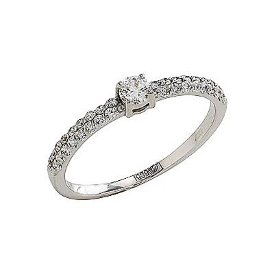 Золотое кольцо Ювелирное изделие 103477 кольцо алмаз холдинг женское золотое кольцо с куб циркониями alm1200203515л 18 5