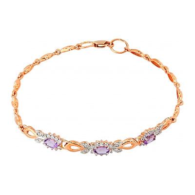 Золотой браслет Ювелирное изделие 103740 браслет из аметиста фиолетовая полночь