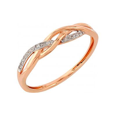 Золотое кольцо Ювелирное изделие 104958 кольцо алмаз холдинг женское золотое кольцо с бриллиантами и рубином alm13237661 19