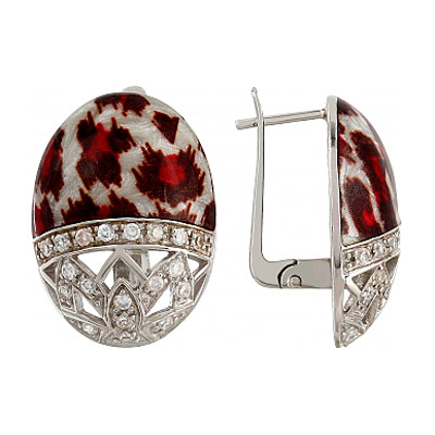 Серебряные серьги Ювелирное изделие 106158 серебряные серьги ювелирное изделие 70896