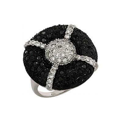 Серебряное кольцо Ювелирное изделие 106281 позолоченное серебряное кольцо с фианитом кошка с 10550 ж
