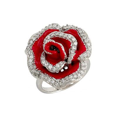 Серебряное кольцо Ювелирное изделие 106290 позолоченное серебряное кольцо с фианитом кошка с 10550 ж