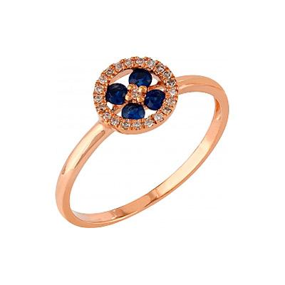 Золотое кольцо Ювелирное изделие 107107 кольцо кюп женское золотое кольцо с бриллиантами и сапфиром alm1850202213 19