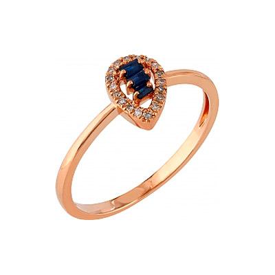 Золотое кольцо Ювелирное изделие 107115 кольцо jv женское золотое кольцо с бриллиантами и ониксами r21180 ox wg 18