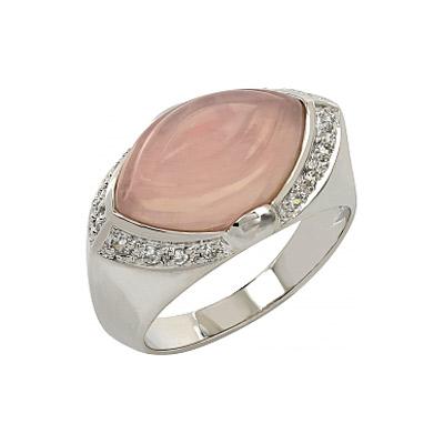 Серебряное кольцо Ювелирное изделие 107274 серьги из розового кварца афина снкр 042