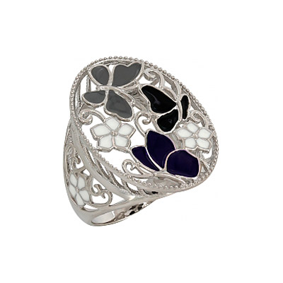 Серебряное кольцо Ювелирное изделие 107329 цена