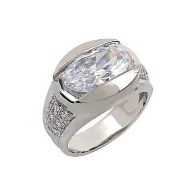 Серебряное кольцо Ювелирное изделие 107330 позолоченное серебряное кольцо с фианитом кошка с 10550 ж
