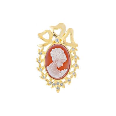 Серебряная  брошь Ювелирное изделие 108427 брошь серебряная 138077