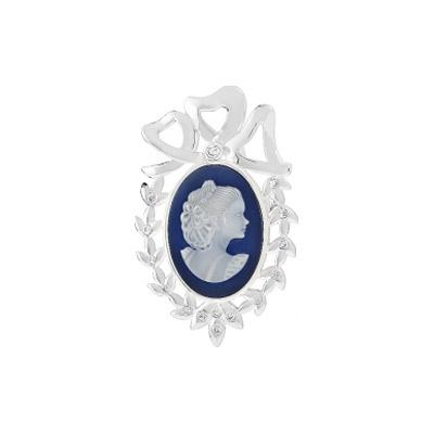 Серебряная  брошь Ювелирное изделие 108428