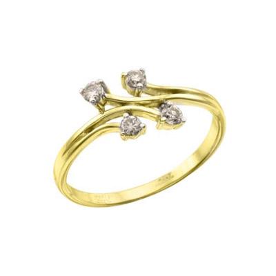 Золотое кольцо Ювелирное изделие 111442 золотое кольцо c бриллиантами