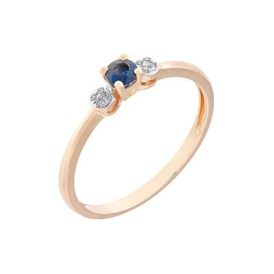 Золотое кольцо Ювелирное изделие 112829 кольцо кюп женское золотое кольцо с бриллиантами и сапфиром alm1850202213 19