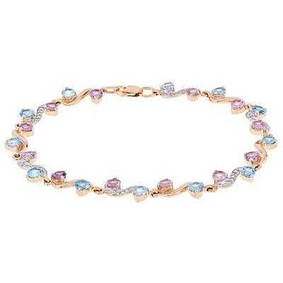 Золотой браслет Ювелирное изделие 112875 браслет эстет женский золотой браслет с топазами est01б321259t7 19