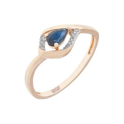 Золотое кольцо Ювелирное изделие 112967 кольцо кюп женское золотое кольцо с бриллиантами и сапфиром alm1850202213 19