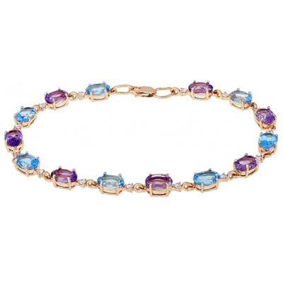 Золотой браслет Ювелирное изделие 115340 браслет эстет женский золотой браслет с топазами est01б321259t7 19