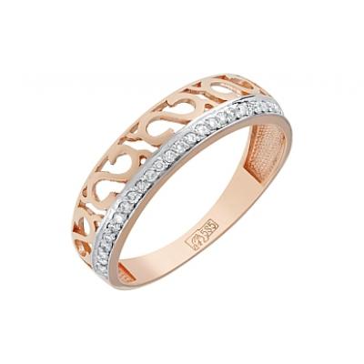 Золотое кольцо Ювелирное изделие 117660 кольцо алмаз холдинг женское золотое кольцо с куб циркониями alm1200203515л 18 5