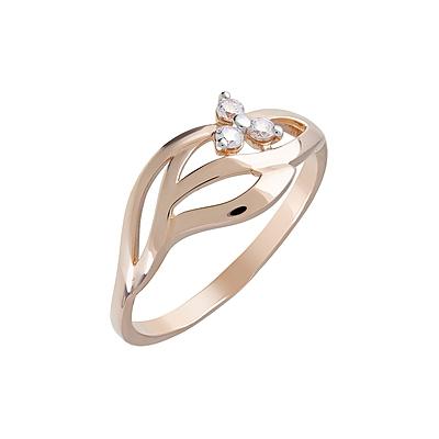 Золотое кольцо Ювелирное изделие 123650 кольцо алмаз холдинг женское золотое кольцо с куб циркониями alm1200203515л 18 5