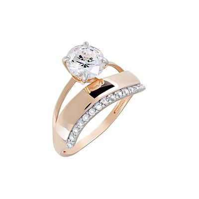 Фото - Золотое кольцо Ювелирное изделие 124033 кольца swarovski 5412018 17
