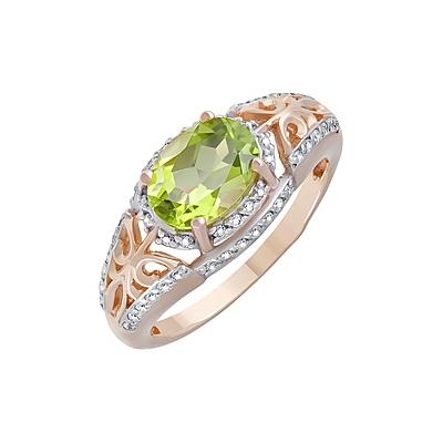 Золотое кольцо Ювелирное изделие 124103 fit 17385