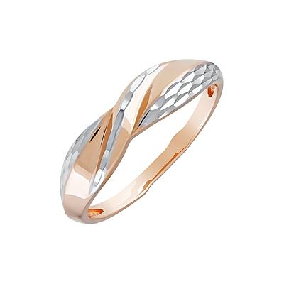 Магия Золота Женское золотое кольцо с бриллиантами и топазом, MG82213b/t, 17.5
