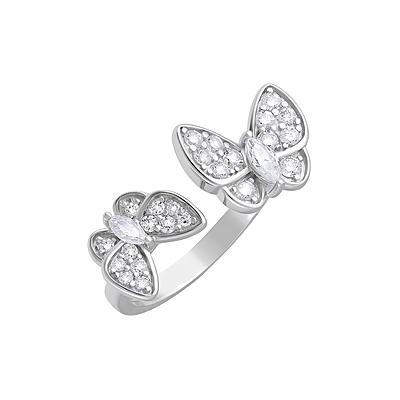 Серебряное кольцо Ювелирное изделие 127691 серебряное кольцо ювелирное изделие 106235