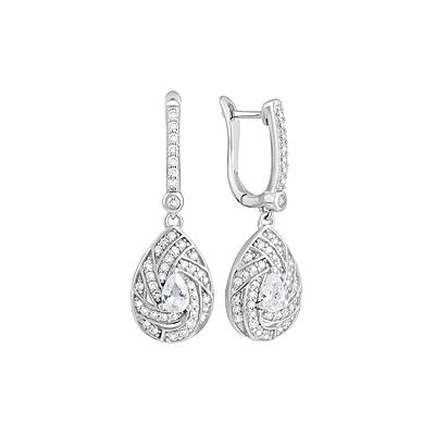 Серебряные серьги Ювелирное изделие 127703 серебряные серьги ювелирное изделие 70896