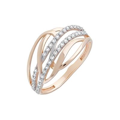 Золотое кольцо Ювелирное изделие 128800 кольцо алмаз холдинг женское золотое кольцо с куб циркониями alm1200203515л 18 5