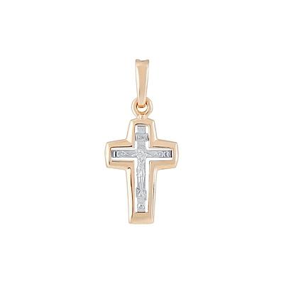 Золотой крест Ювелирное изделие 128918 золотой крест ювелирное изделие 76027