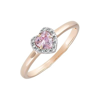 Золотое кольцо Ювелирное изделие 129811 кольцо алмаз холдинг женское золотое кольцо с куб циркониями alm1200203515л 18 5