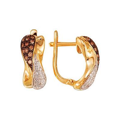 Золотые серьги Ювелирное изделие 3554
