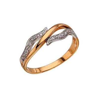 Золотое кольцо Ювелирное изделие 3621 кольцо алмаз холдинг женское золотое кольцо с бриллиантами и рубином alm13237661 19