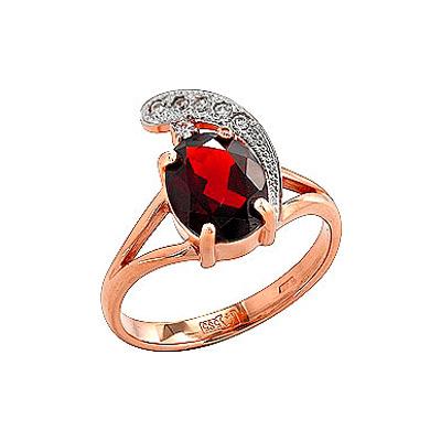 Золотое кольцо Ювелирное изделие 36255 кольца колечки кольцо тереза фианит