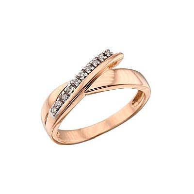 Золотое кольцо Ювелирное изделие 39450 кольцо алмаз холдинг женское золотое кольцо с бриллиантами и рубином alm13237661 19