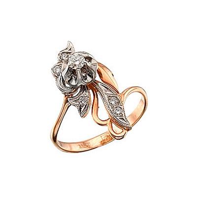 Золотое кольцо Ювелирное изделие 4241