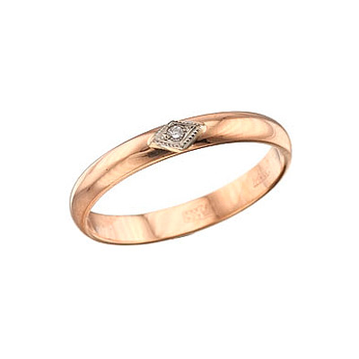Золотое кольцо Ювелирное изделие 4256 обручальное кольцо korloff золотое обручальное кольцо k9hl07pg 17 5