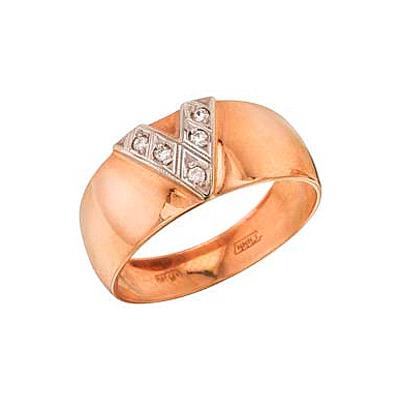 Золотое кольцо Ювелирное изделие 4460 кольцо алмаз холдинг женское золотое кольцо с куб циркониями alm1200203515л 18 5