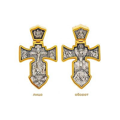 Серебряный крест Ювелирное изделие 5844