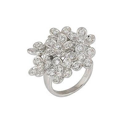 Серебряное кольцо Ювелирное изделие 68281 серебряное кольцо ювелирное изделие 108433