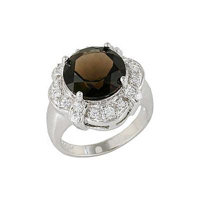 Серебряное кольцо Ювелирное изделие 68409 кольцо серебро с розовым кварцем вуаля