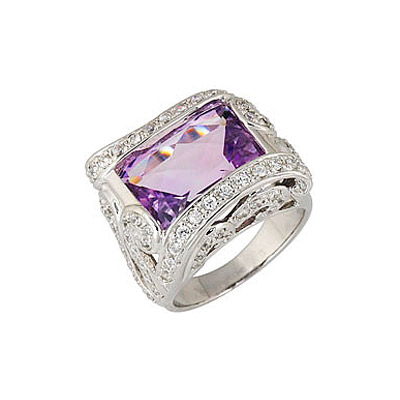 Серебряное кольцо Ювелирное изделие 68417 jv женское серебряное кольцо с синт аметистом в позолоте 30 014 510 006 gams yg 17