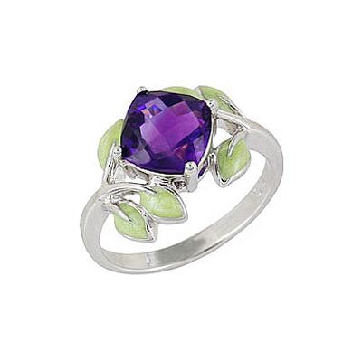 Серебряное кольцо Ювелирное изделие 68515 jv женское серебряное кольцо с синт аметистом в позолоте 30 014 510 006 gams yg 17
