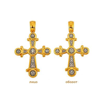 Серебряный крест Ювелирное изделие 69621 ювелирное изделие 10378rs