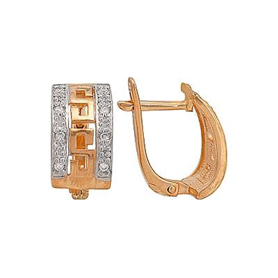 Золотые серьги Ювелирное изделие 70655 серьги queen fair серьги висячие сахарок круг ажурный цвет золото