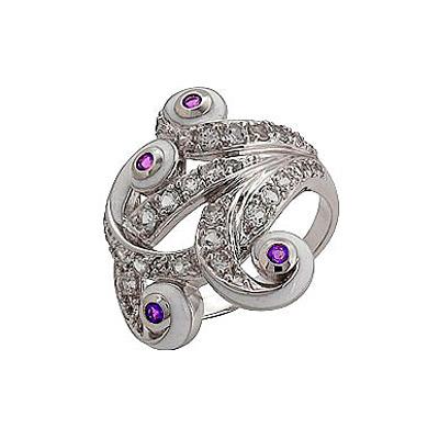 Серебряное кольцо Ювелирное изделие 70787 серебряное кольцо ювелирное изделие 106235