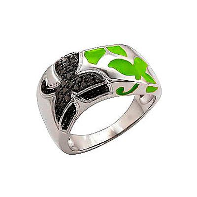 Серебряное кольцо Ювелирное изделие 70803 ювелирное изделие 75094